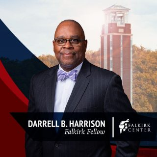 A 6-year veteran of the United States Army, Mr. Darrell B. Harrison received his undergrad in Psychology right here at Liberty University! Soon after, he attended Princeton Theological Seminary where he studies theology and minsitry. Harrison is currently host of the 'Just Thinking' podcast, Dean of social media for Grace To You Ministries, and is working to become a certified counselor. We are very excited to announce Mr. Harrison as Falkirk Center's newest Fellow, and blessed to be able to partner with him in the fight to preserve Judeo-Christian values. Welcome, @darrellbharrison!
