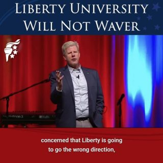 Pastor Jonathan Falwell, son of the late founder of Liberty University, Pastor Jerry Falwell Sr., doesn't mince words about the direction of @libertyuniversity's future. We may face hardships, but our faith, our values, and our mission cannot and will not waver. Our sights are set, our focus is clear, and we will continue training champions for Christ, no matter what obstacles may come our way.