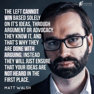 Many on the left celebrate the silencing of their opposition rather than support open dialogue with them. Censorship comes from the fear that someone else's ideas may be better than yours. The left wants you to submit & stay silent — never comply with that.