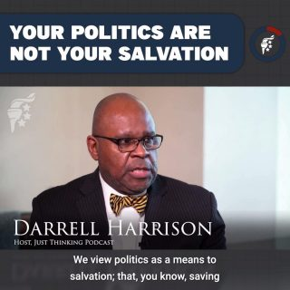 Politics is important, but it is not our salvation. While we must stay engaged in cultural battles & fight for our liberties, we cannot let that replace where our hope is found: salvation through Jesus Christ.  No matter your thoughts on how the election turned out, God is still sovereign over all. Do not despair, but continue to live for His glory.