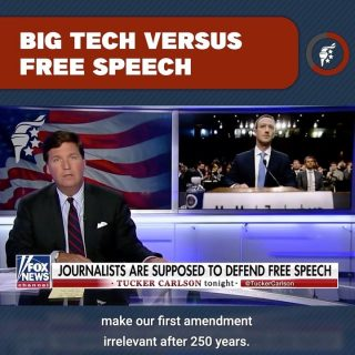 Censoring speech is fundamentally anti-American. At the core of this nation is the right to freely share your views. When a handful of unelected, big tech oligarchs can unilaterally control national conversation & silence speech they don't like, big tech has become too powerful.