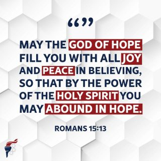 Happy Sunday! If you are trusting in Christ, take comfort in knowing there is eternal hope, joy and peace that can only be found in Christ Jesus our Lord.