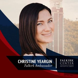 Falkirk Center is proud to introduce @christineyeargin as a Falkirk Ambassador! Christine is most passionate about the pro-life movement. She recently testified at the Colorado State Capitol, defending the state's Born Alive bill. She is a fearless, powerful voice for the unborn. Welcome aboard, Christine!